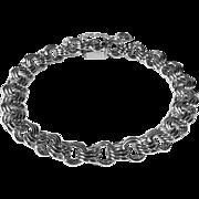Trople Link Sterling Silver Starter Charm Bracelet