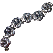 Gumps Sterling Designer G. Cini Hibiscus Flower Bracelet