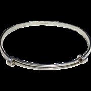Ed Levin Designer Sterling Signature Slide Bracelet