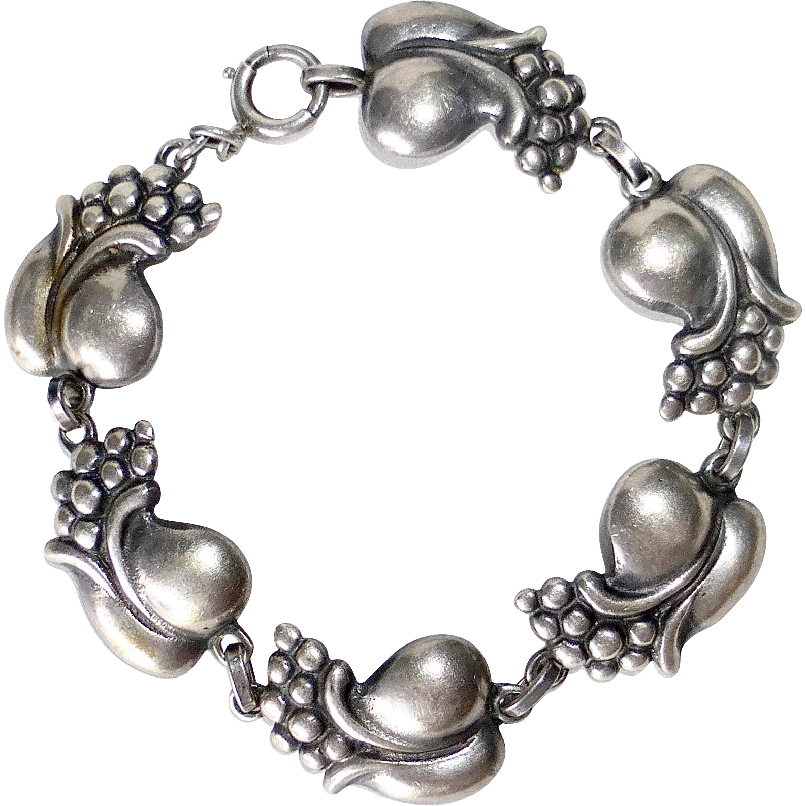 Viking Craft Sterling Exotic Flower Bracelet