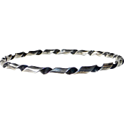 Sterling Silver Ribbon Twist Bangle Bracelet