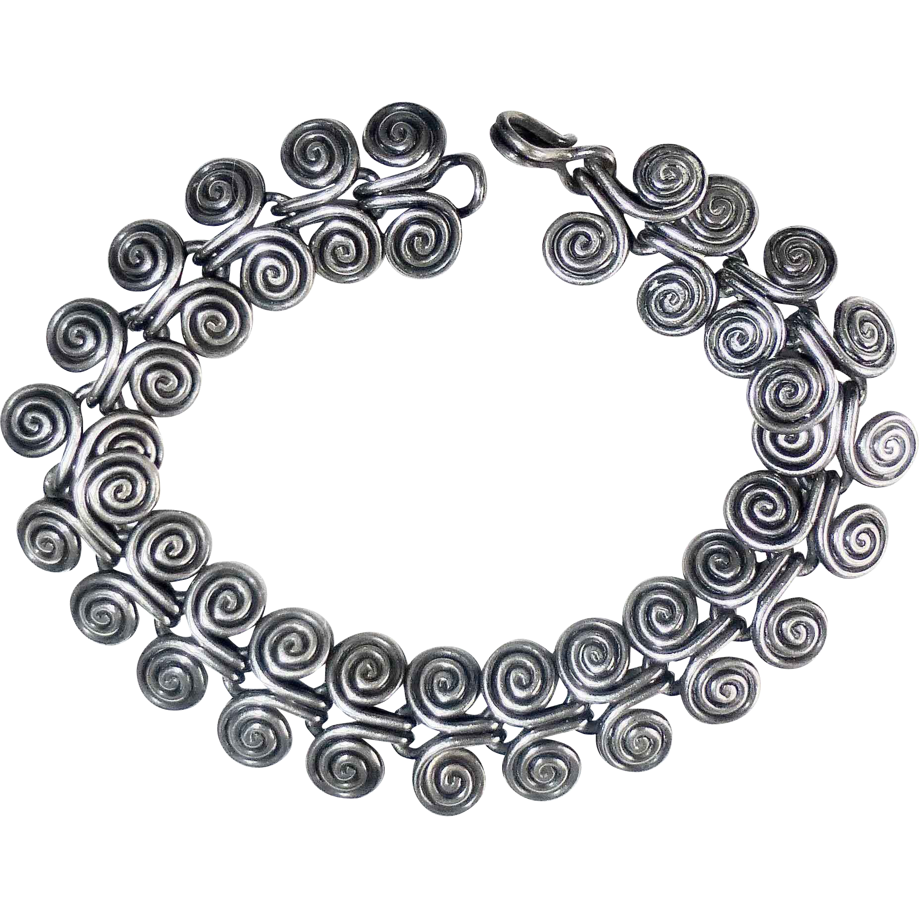 Sterling Silver Handcrafted Double Spiral Slinky Bracelet