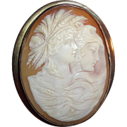 Victorian GF Shell Cameo Intriguing Double Images