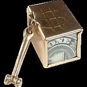 14k YG Charm 'Mad Money' Boxed $1 Bill & Hammer