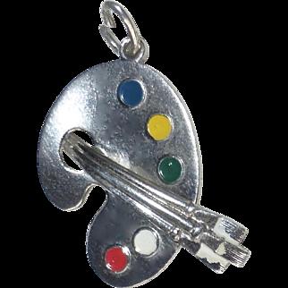 Sterling Artist's Paint Palette Charm or Pendant
