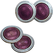 Art Deco Double Sided Enamel Cufflinks