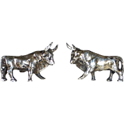 Sterling Figural Three Dimensional Bull Cufflinks