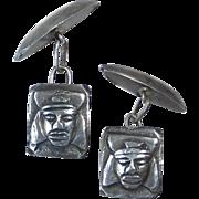 Sterling Inca Design Cufflinks from Peru - Red Tag Sale Item