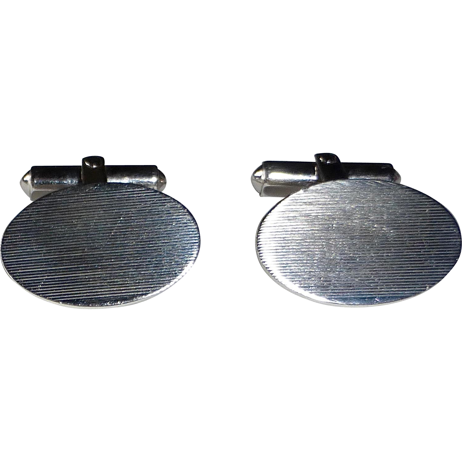 Classic Sterling Silver Oval Cufflinks