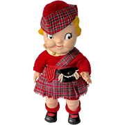 1960s Campbell's Soup Kid Doll in Scottish Kilt