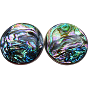 Sterling & Abalone Pierced Post Earrings