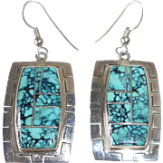Native American Marie Tsosie Navajo Sterling Turquoise Earrings