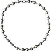 Quality Sterling Mexican Bead Necklace