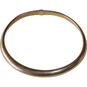 1940s Forstner Gold Filled Flexible Domed Choker