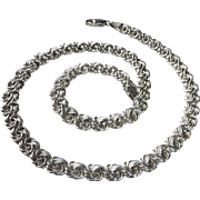 Sterling Silver Ornate Chain Necklace