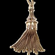 Antique Victorian 14k Tassel Pendant