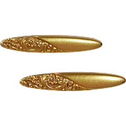 Antique Pair 10k Gold Lace or Cuff Pins