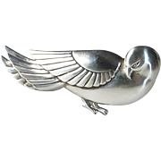 Sterling Silver Coro Norseland Exotic Bird Pin