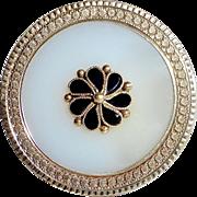 Antique Victorian 14k Milky Quartz & Black Onyx Pin-Pendant