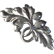 Viking Craft Sterling Acorn & Oak Leaf Pin