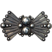 Mexican Sterling Art Deco Pin c1930s
