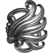 Viking Craft Sterling Sensuous Nouveau Style Curls Pin