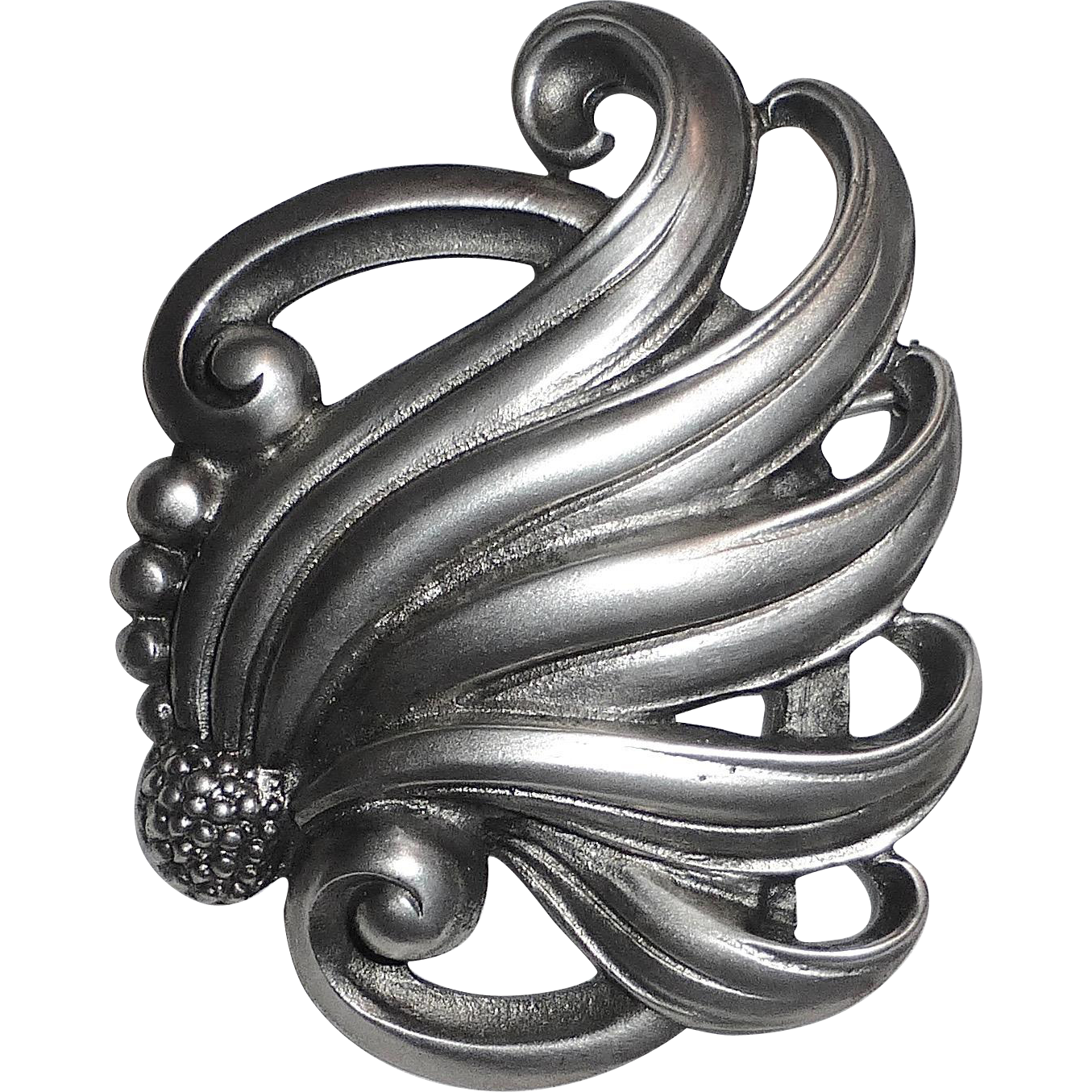 Viking Craft Sterling Sensuous Nouveau Style Curls Pin
