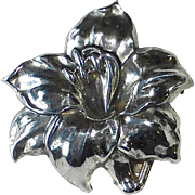 Early Danecraft Felch Sculptural Sterling Lily Pin
