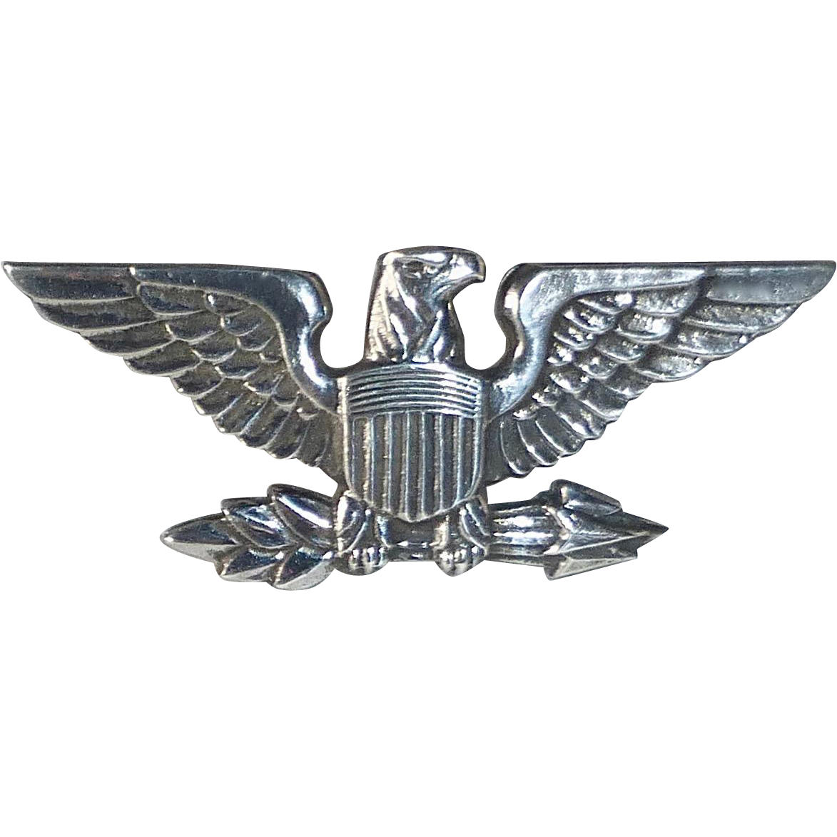 Signed Sterling Military Style Eagle Pin from bejewelled ...