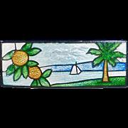 Sterling & Enamel Florida Scenic Enamel Souvenir Pin