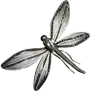 Sterling Silver Fine Filigree Dragonfly Pin