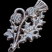Edinburgh Scotland Sterling Thistle Pin