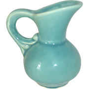 McCoy USA Aqua Blue Miniature Pitcher