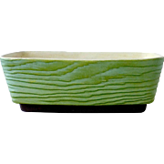 Terrace Ceramics Green Wood Grain Pottery Window Planter