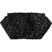 Black Sequin & Bead La Regale Evening Clutch Purse