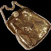 Whiting Davis Gold Metal Mesh Purse Original Box