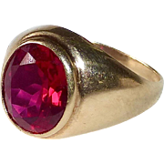 10k Synthetic Ruby Ring