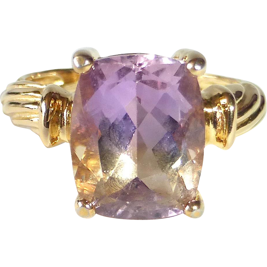 14k Yellow Gold Ametrine Ring