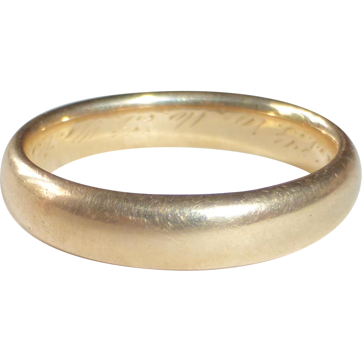 14k Yellow Gold Band Ring c1914