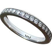 14k White Gold Eternity Band Diamond Ring