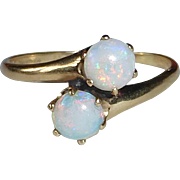 14k Antique Victorian Opal Bypass Ring