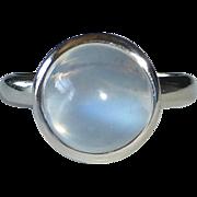 18k Blue Light Moonstone Ring