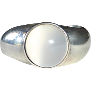 Sterling Silver Moonstone Ring with a Twist