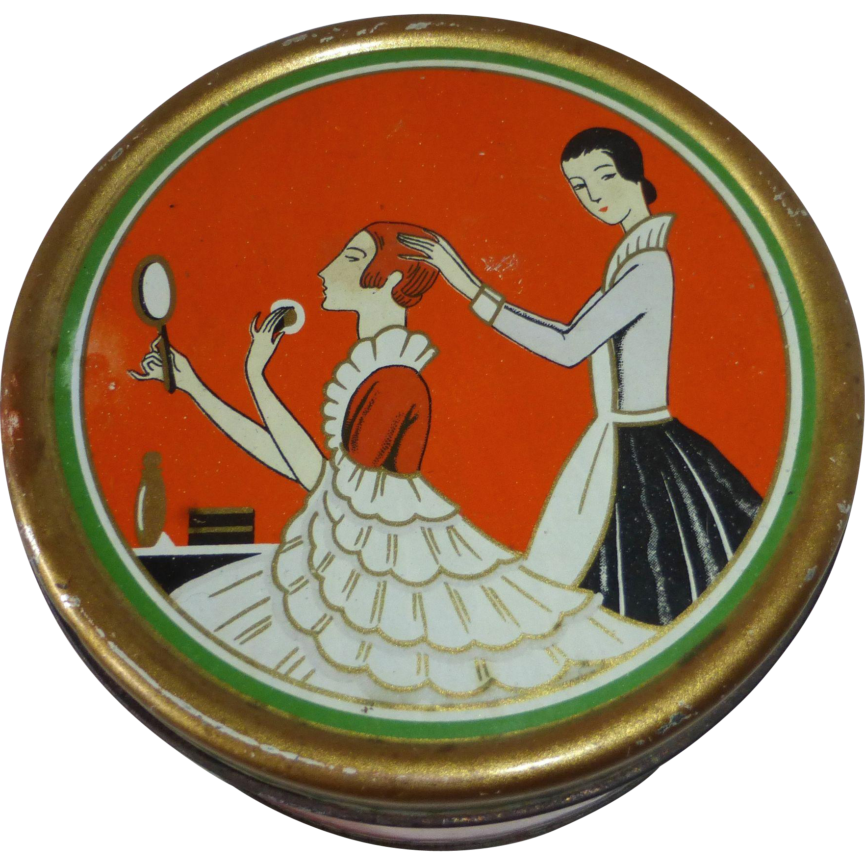 Richard Hudnut 1927 Art Deco Dusting Powder Tin
