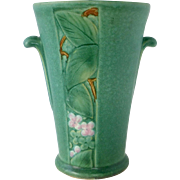 Weller Art Pottery Velva Vase with Sweet Blossoms