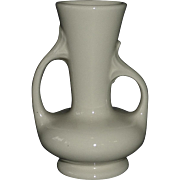 White Glaze Asymmetrical Two Handle Vase
