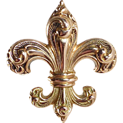 14k Rose Gold Victorian Fleur-de-Lis Watchpin