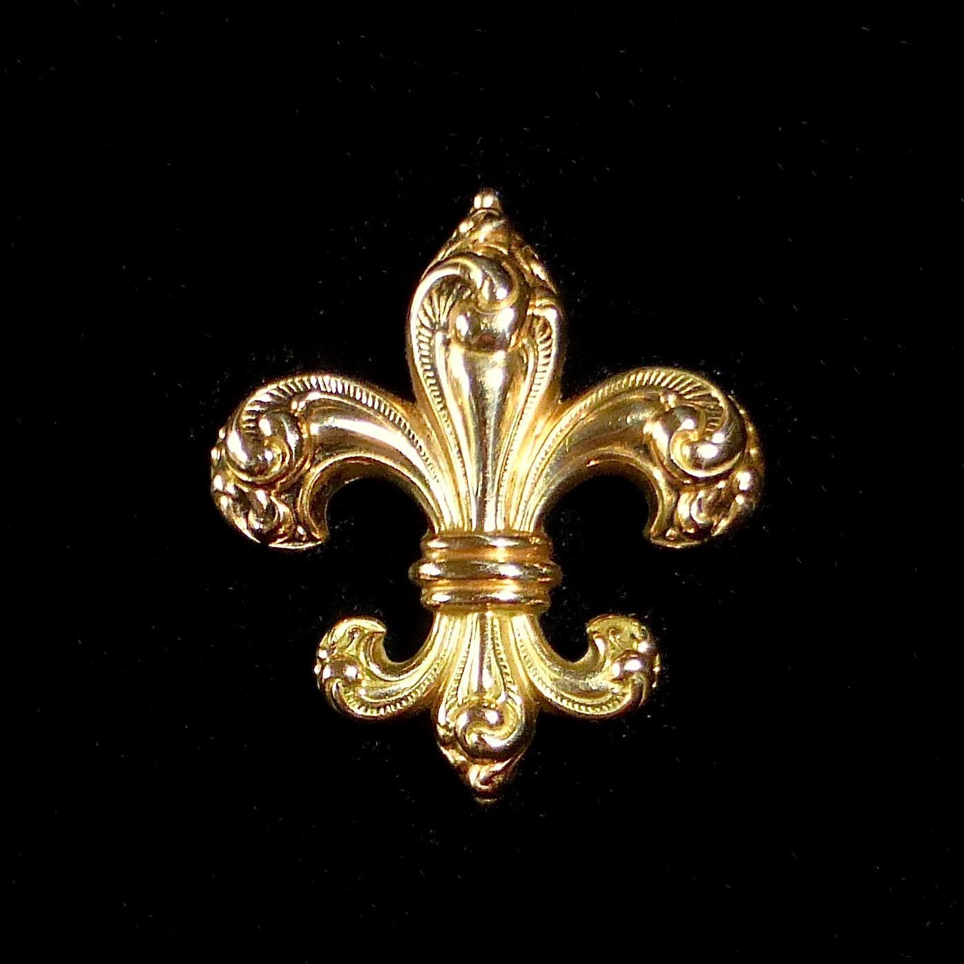 14k rose gold victorian fleur de lis watchpin from. Black Bedroom Furniture Sets. Home Design Ideas