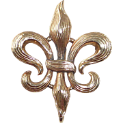 14k Edwardian Fleur-de-Lis Watch Pin