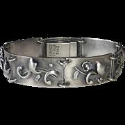 Birks Sterling Denmark Modernist Abstract Design Link Bracelet